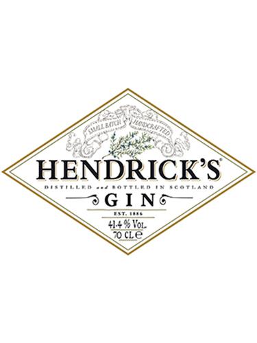 Hendrick's Gin Etiket